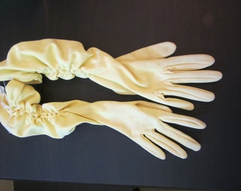 Yellow Vintage Gloves