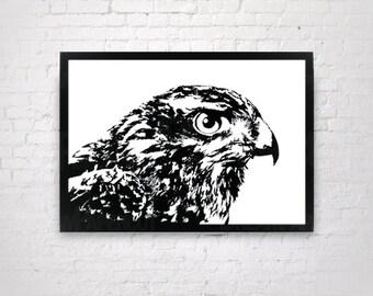 Hawk - Handmade Original Paper Cut Home Decor - UNFRAMED