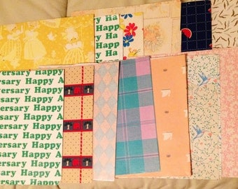 A variety of vintage wrapping paper.