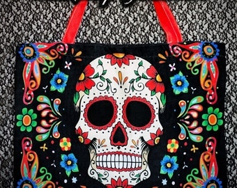 S A L E XL Fiesta Skull Zipper Bag