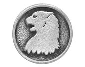 2 Hissing Cat 7/8 inch ( 22 mm ) Pewter Buttons