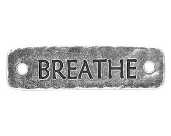 6 TierraCast Breathe 1 and 9/16 inch ( 40 mm ) Silver Plated Pewter Links