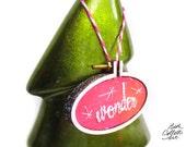 Pink Embroidery Hoop Art, Christmas Ornaments, Gift for Coworker, Gift for Teacher, Boho Christmas, Glittery Wonder Mini Art, Embellishment