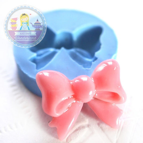 Ribbon Bow 20mm Bakery Silicone Flexible Push Mold 103s* BEST QUALITY