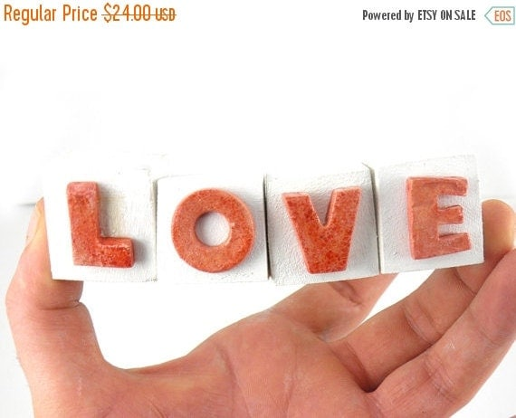 love ceramic letters ceramic letters ornament holiday by. Black Bedroom Furniture Sets. Home Design Ideas