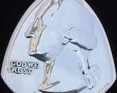 Coin Guitar Pick pre-1964 US Washington 90% silver quarter (Random Year-Requests Available)