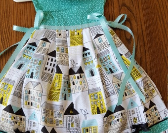 Retro San Francisco City Scape Oven Door Kitchen Dish Towel Dress