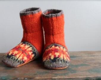 Wool Baby Slippers, Felted Wool Baby booties, Wool booties, Baby Slippers