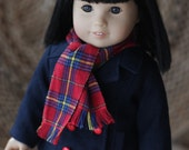 RESERVED: Midnight Blue Pea Coat with Scarf, Peplum Top and Moto Pants  RESERVED for Deb