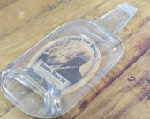 Melted Liquor Bottles - Pappy Van WInkle Bourbon - Great Bar Decor, Wall Hanging or Cheese Tray