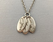 Handwriting Necklace | family handwriting | personalized heirloom | memorial jewelry | wedding jewelry | Generations Handwriting Necklace