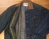 Vintage Lee Denim Jacket / Lee Stormrider Denim Jacket / Blanket Lined  Lee Denim Jacket / Unisex Vintage Denim Jacket