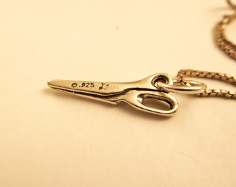 Scissor necklace -Tiny scissor necklace-  sterling silver scissor   Necklace - Seamstress Hairstylist Jewelry