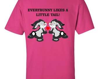 Everybunny likes a little tail shirt, funny rabbit shirt, funny bunny shirt, rabbit lover shirt, bunny rabbit shirt