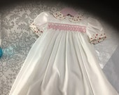 Smocked baby dress size 3-6months and 6-12 months