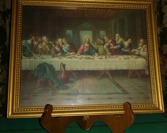 The Last Supper Vintage Framed Print 1960's Art