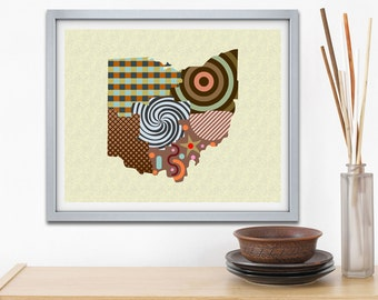 Ohio State Wall Art ohio state decor | etsy
