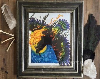 PRINT Rainbow Crow