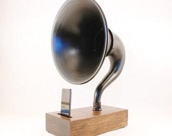 Acoustic Speaker, iPhone, Atwater Kent Speaker, Wireless Speaker, iPhone Amplifier, iPhone Amp, iPhone Stand, iPhone Dock, Speaker