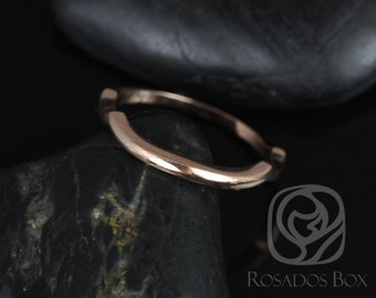14kt Rose Gold Matching Band to Orla 6mm/Mara 11x5.5mm/Cassidy 6mm PLAIN Band (Other Metals Available)