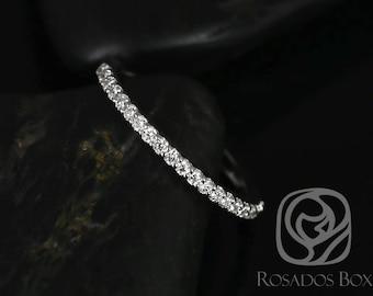 Rosados Box 14kt White Gold Matching Band to Natalia 9x7mm Diamond HALFWAY Eternity Band