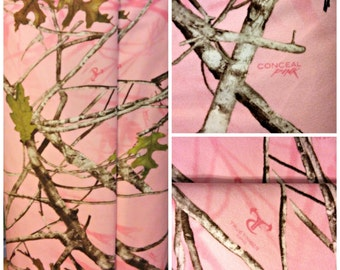 True Timber/ moleskin fabric/ conceal pink/ camo fabric/ free small sample