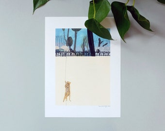 Illustration, Poster, Digital art print on paper, The Great Escape