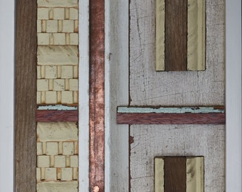 Haven 1 - reclaimed wood and metal assemblage