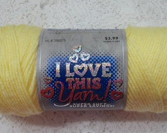 Yarn Destash 7 Ounces Acrylic Worsted Buttercup Yellow I Love This Yarn