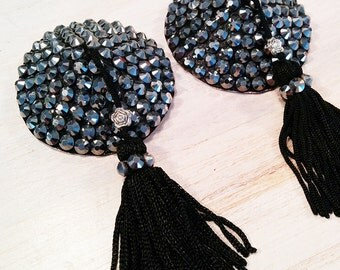 """Pasties / Nippies Burlesque Strass """"Glam Punk"""""""