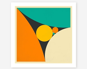 Modern, Minimal, Geometric Wall Art for the Home Decor, Giclee Fine Art Print, 'COXETER'