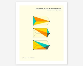 TRISECTION 0F THE PRISM (Giclée Fine Art Print/Photo Print/Poster Print) Minimal, Geometric Art