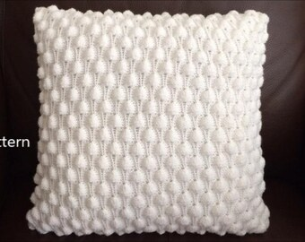 PDF Pattern, How To Knit A Berry Pillow 16in x 16in