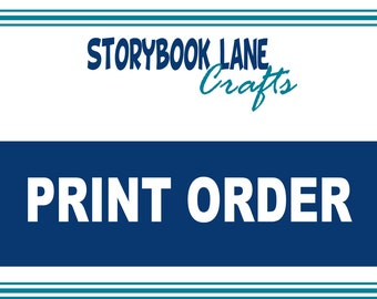 PRINT SERVICES - Storybook Lane Crafts