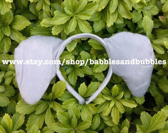 Comfortable Grey Elephant Ears - Headband Halloween Costume - Elephant Costume - NEXT DAY SHIPPING!