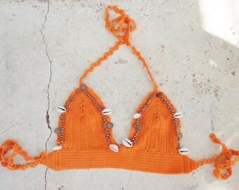Sea Shell Bikini,Halloween,Crochet Bikini.