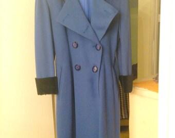 Early 1960s Saks 5th Ave Long Dress Coat