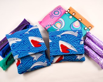 Tampon Holder/Case/Pouch - Shark Week