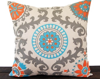 Natural pillow cover One Orange Natural Aqua Gray Rosa Mandarin decorative throw pillow cover sham cushion cover home decor