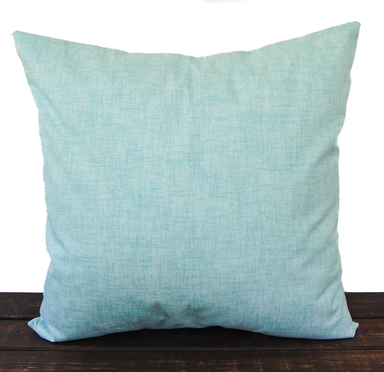Throw Pillow Covers White : Throw pillow cover Canal blue sea foam white cushion cover