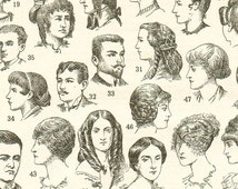 1922 Vintage hairstyle poster hair style poster Antique hair styles illustration Hairstylist gift Coiffure poster gift for hairdresser gift
