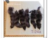 T-24 Genuine Purple Lilac Blue Fur Raccoon TAIL Craft Supply Pelt Remnant