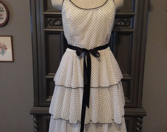 Polka Dot Charmer 80s Sundress