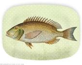 Fish no.5 melamine serving platter