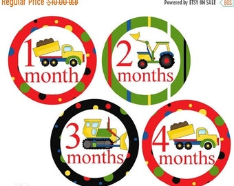 Sale Boy Monthly Stickers Trucks Baby Month Stickers Boy Milestone Stickers Monthly Baby Stickers Baby Milestone Stickers