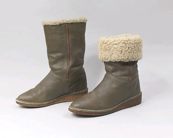 1970 Salamander flat winter leather  Boots euro37 us6