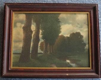 1905 Vintage Framed Landscape Print