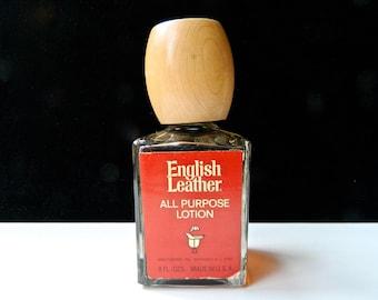 ENGLISH LEATHER Original Men's All Purpose Lotion 8 oz (240 ml) Original Wooden Top Classic Splash