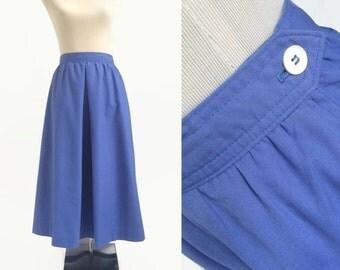 Blue Vintage Midi Skirt - Land's End - Everyday Vintage Skirt