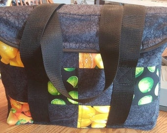 Insulated grocery or farmers market bag